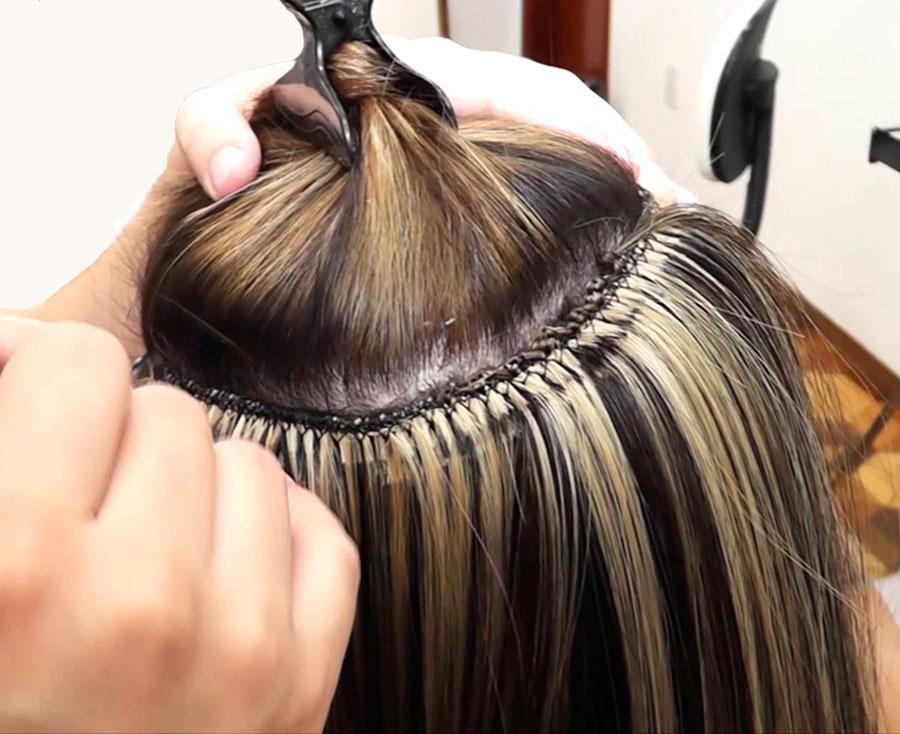 Manutenção e colocação de mega hair
